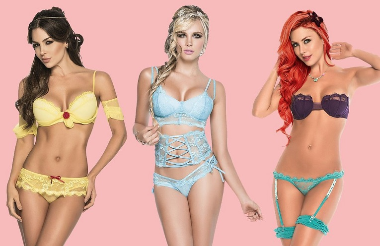 Sexy lingerie: Disney princesses in a palace Edition
