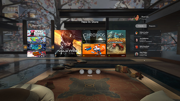 Oculus Home screen