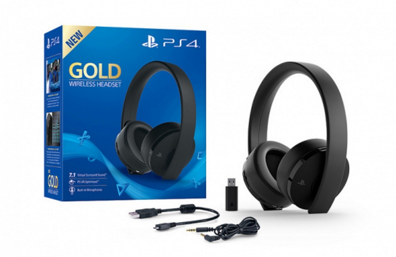 Gold Wireless Headset