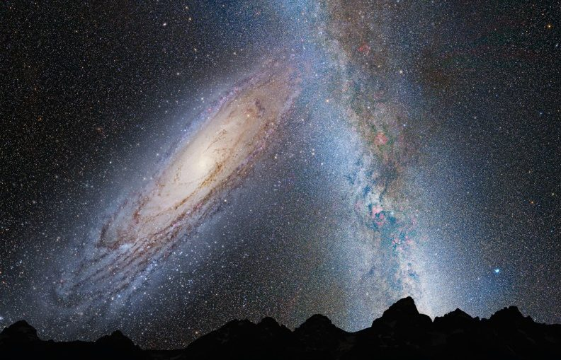 Andromeda Collides Milky Way
