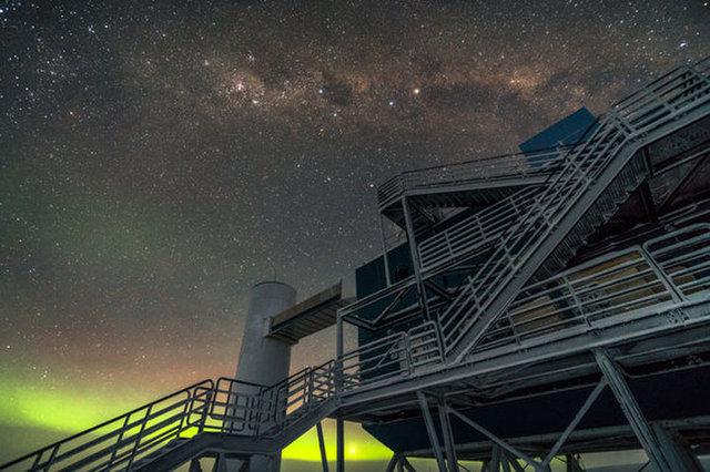 The IceCube lab in Antarctica