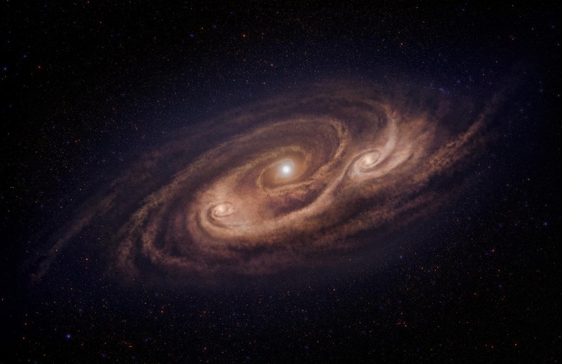 Artist's impression of the monster galaxy