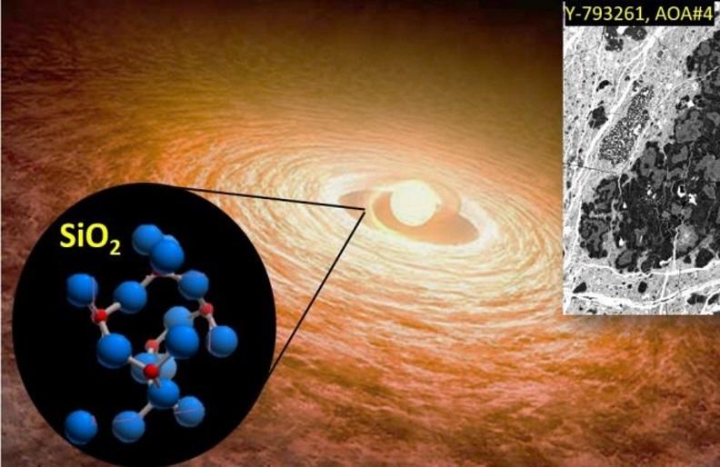 The solar protoplanetary nebula.