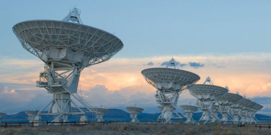 The Very Large Array (VLA) is a collection of 27 radio antennas