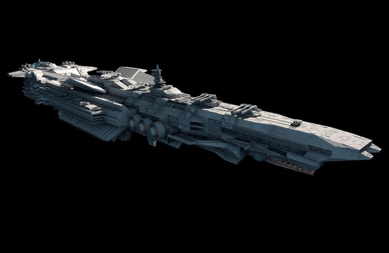Artist concept for a futuristic starship.