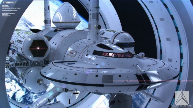 NASA commissioned renditions of what a warp drive could look like.