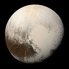 Pluto in true color
