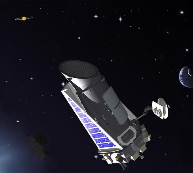 Artist's concept of Kepler in action