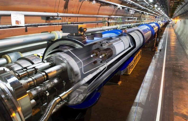 A 3D cross-section view of the LHC