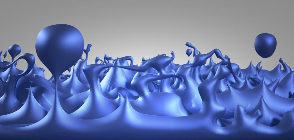 An illustration of the early Universe as consisting of quantum foam, where quantum fluctuations are large, varied, and important on the smallest of scales. Positive and negative energy fluctuations can create minuscule, quantum wormholes.