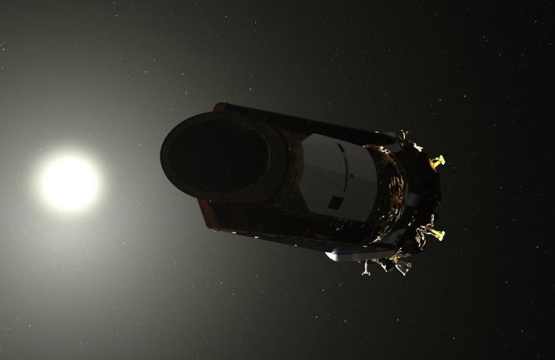 An illustration of the Kepler space telescope.