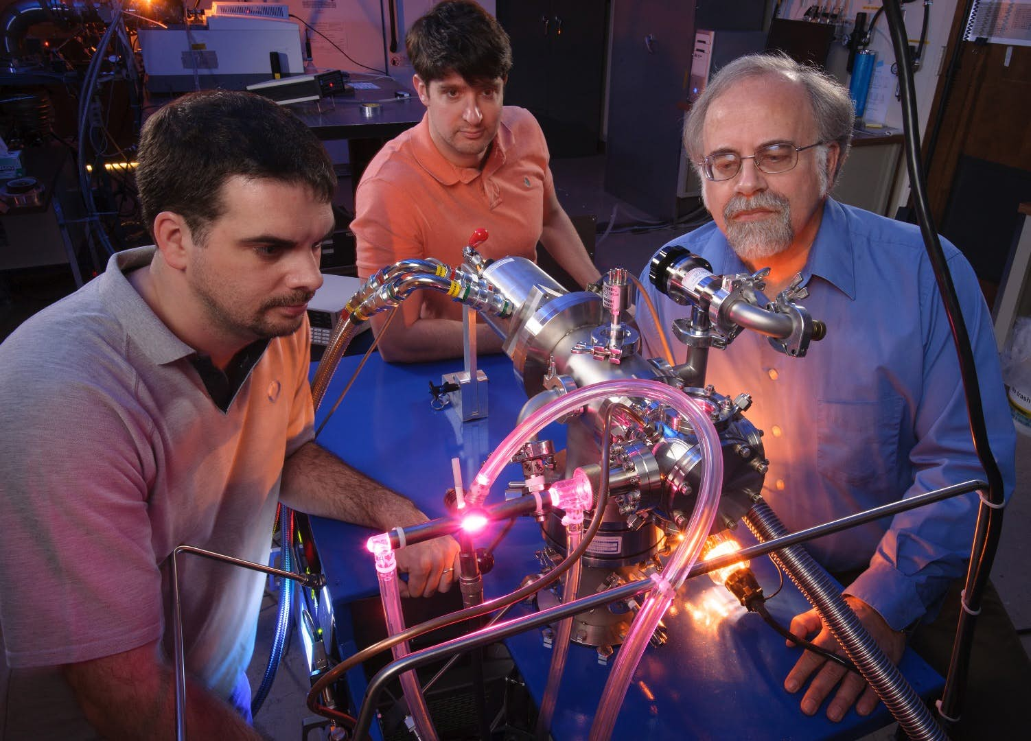 NASA Ames Research Center scientists Michel Nuevo, Christopher Materese and Scott Sandford