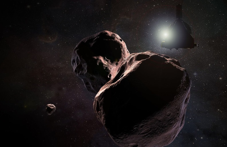 An artist's impression of Ultima Thule, which is already turning out to be quite mysterious before New Horizons even arrives