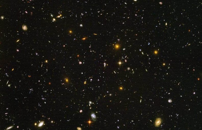 The Hubble Ultra Deep Field of galaxies. A new study of the star formation activity in 179 of the galaxies in this image including many dating from about six billion years ago confirms an earlier puzzling result: lower mass galaxies tend to make stars at a rate slightly slower than expected.