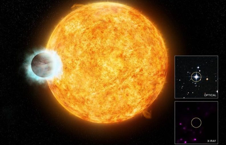 "A NASA team has recreated the atmosphere of a ""hot Jupiter"" exoplanet, similar to this artist's rendition of WASP-18b"