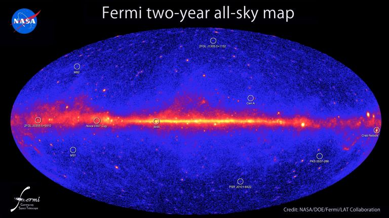 Fermi Second catalog of Gamma Ray Sources, constructed over two years and released in 2011.