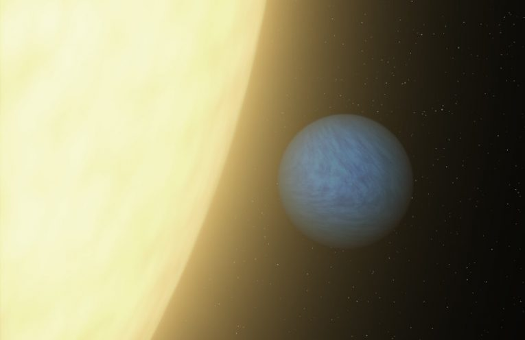 An artist's concept of super-Earth planet 55 Cancri e, which races around its host star once every 18 hours. New research led by Penn State astronomers improves our understanding of how large super-Earth planets with small, quick orbits form.