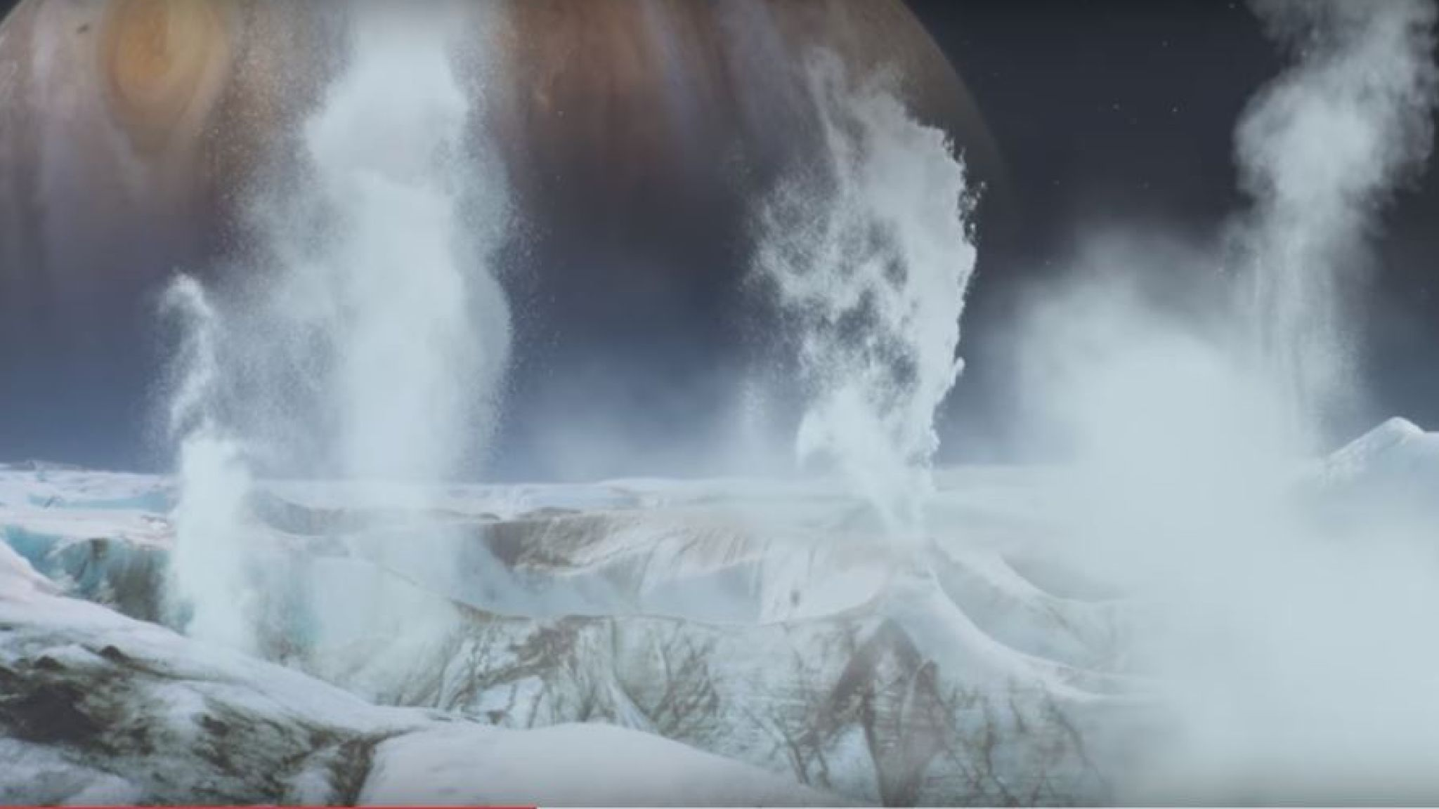 Astronomers have previously seen what were believed to be plumes of water shooting up from the surface