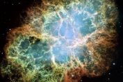 The Crab Nebula is a remnant of a supernova, where a pulsar now resides at the center. The Crab Pulsar rotates 30 times each second.