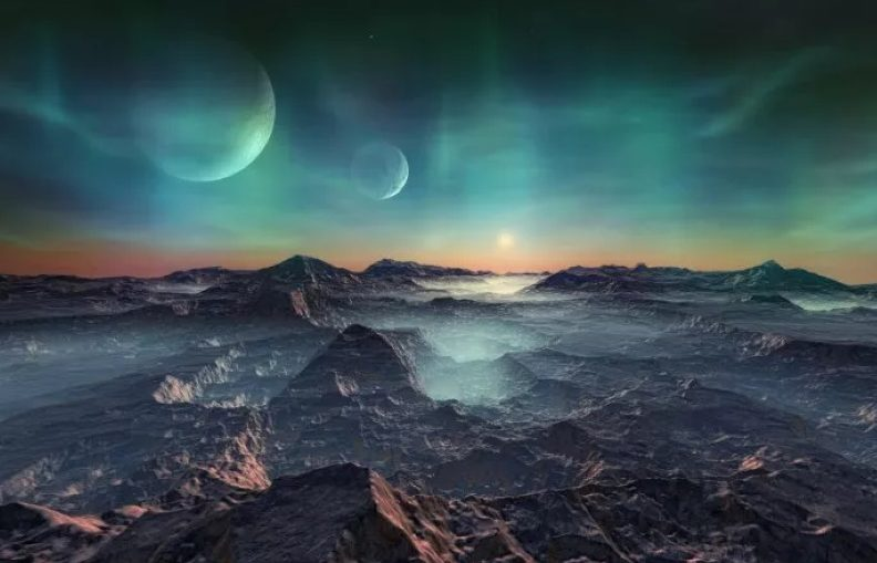 Artist impression of an alien planet. Researchers say Earth-like exoplanets may be common in the universe.
