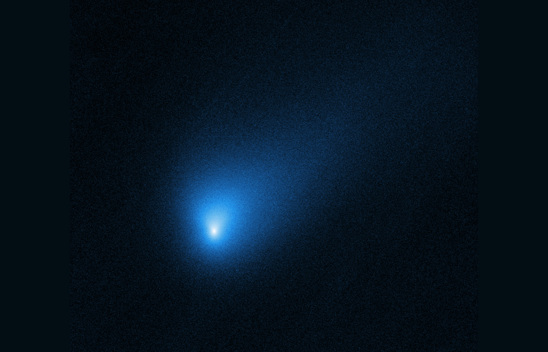 A Hubble Space Telescope image of comet 2I/Borisov, the second confirmed interstellar object to enter our solar system.